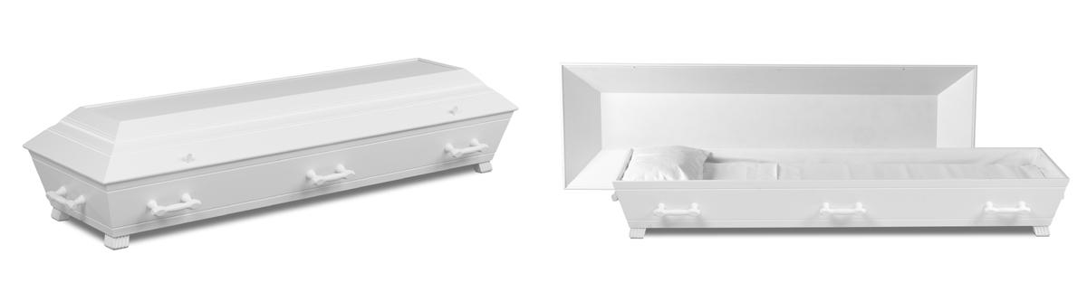Hvitmalt kiste fra Jølstad